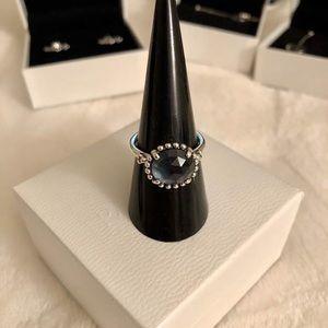New Pandora Midnight Star Dark blue Crystal Ring